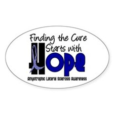 HOPE ALS 4 Oval Sticker (10 pk)