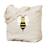 Smiling Bumble Bee Tote Bag