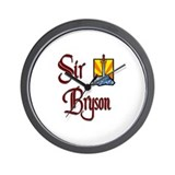 Sir Bryson Wall Clock