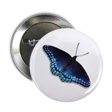"Red Spotted Purple Butterfly 2.25"" Button"