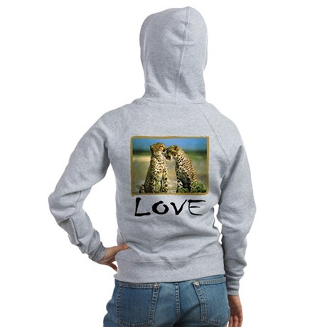 Cheetah Love Women's Zip Hoodie