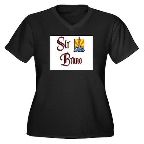 Sir Bruno Women's Plus Size V-Neck Dark T-Shirt