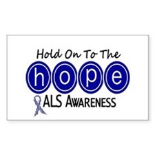 HOPE ALS 6 Rectangle Decal