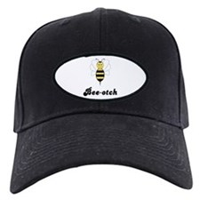 Smiling Bumble Bee Bee-otch Baseball Hat
