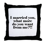 I'm Married Throw Pillow
