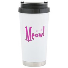 Meow With Attitude: Ceramic Travel Mug