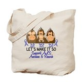 See Speak Hear No ALS 2 Tote Bag