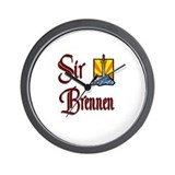 Sir Brennen Wall Clock