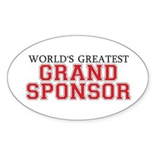 World's Greatest Grand Sponso Oval Decal