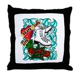 Tattoo Skater Throw Pillow
