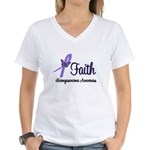 Faith Leiomyosarcoma Women's V-Neck T-Shirt