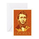 "Thoreau ""Disobey"" Greeting Card"