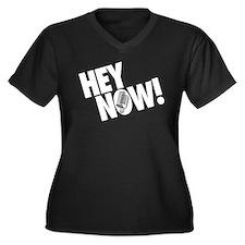 Hey Now! Women's Plus Size V-Neck Dark T-Shirt