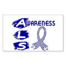 ALS Awareness Rectangle Decal