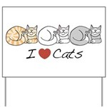 I Heart Cats Yard Sign