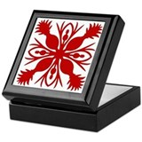 Hawaiian Quilt Keepsake Box