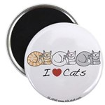 I Heart Cats Magnet