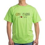 I Heart Cats Green T-Shirt
