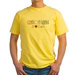 I Heart Cats Yellow T-Shirt