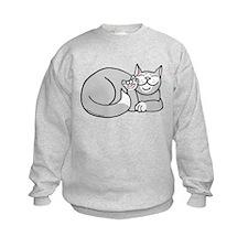 Tuxedo ASL Kitty Sweatshirt