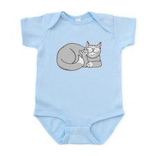 Tuxedo ASL Kitty Infant Bodysuit