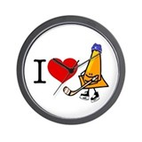 I heart Traffic Cones Wall Clock