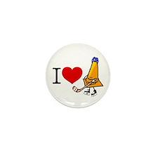 I heart Traffic Cones Mini Button (10 pack)