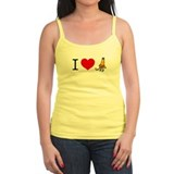 I heart Traffic Cones Ladies Top