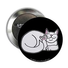 "White ASL Kitty Black 2.25"" Button (10 pack)"