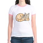OrangeTabby ASL Kitty Jr. Ringer T-Shirt
