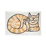 OrangeTabby ASL Kitty Rectangle Magnet (100 pack)