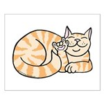 OrangeTabby ASL Kitty Small Poster