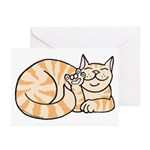 OrangeTabby ASL Kitty Greeting Cards (Pk of 10)