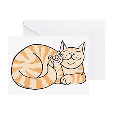OrangeTabby ASL Kitty Greeting Card