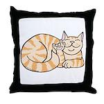 OrangeTabby ASL Kitty Throw Pillow
