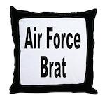 Air Force Brat Throw Pillow