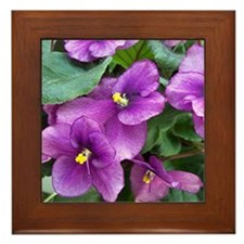 Beautiful Purple AV Field Framed Tile