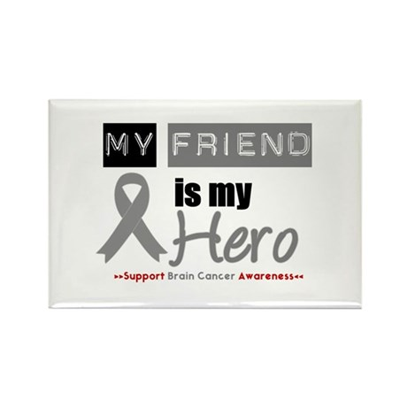 Brain Cancer Friend Rectangle Magnet