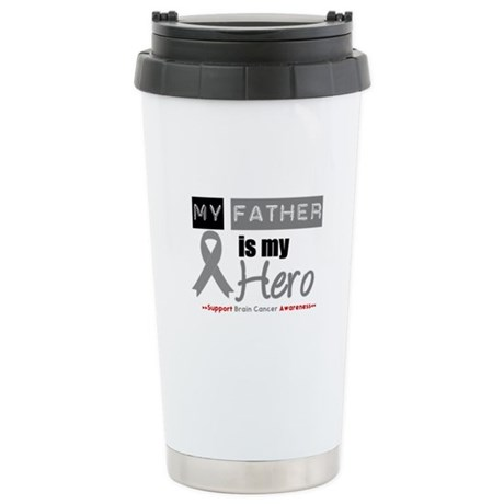 Brain Cancer Hero Father Ceramic Travel Mug
