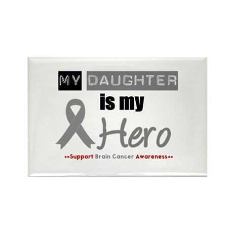 BrainCancerHeroDaughter Rectangle Magnet