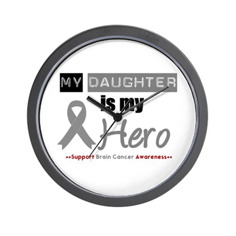 BrainCancerHeroDaughter Wall Clock