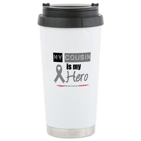 Brain Cancer Hero Cousin Ceramic Travel Mug