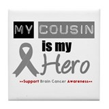 Brain Cancer Hero Cousin Tile Coaster
