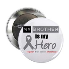 "Brain Cancer Hero Brother 2.25"" Button (100 pack)"