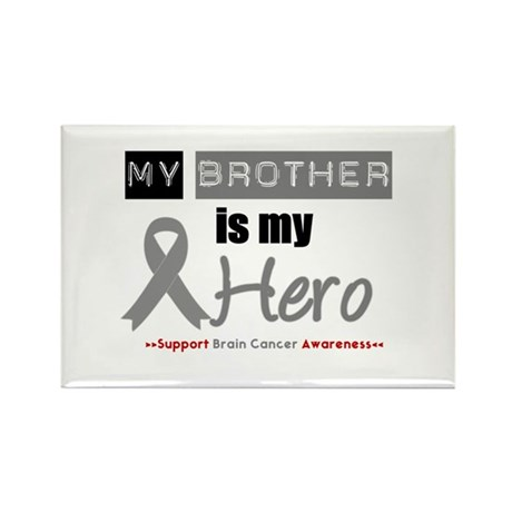 Brain Cancer Hero Brother Rectangle Magnet