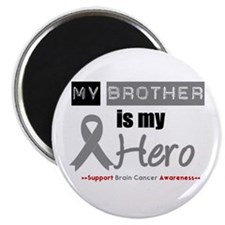 Brain Cancer Hero Brother Magnet