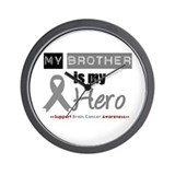 Brain Cancer Hero Brother Wall Clock