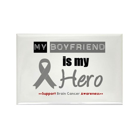 BrainCancerHeroBoyfriend Rectangle Magnet