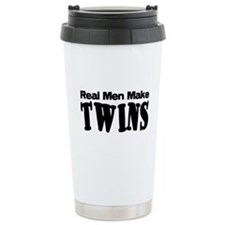 Real Men Make Twins Ceramic Travel Mug