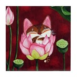 Cat Art~ Speak No Evil Tile Coaster